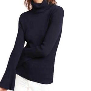 Moth Navy Blue Ribbed Turtleneck Sweater Large